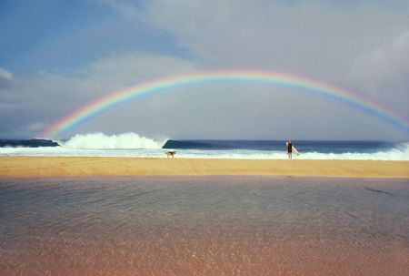 photo rainbow-pipeline-ohahu-1979.jpg California Dream : Jeff Divine - François Fontaine - photographies