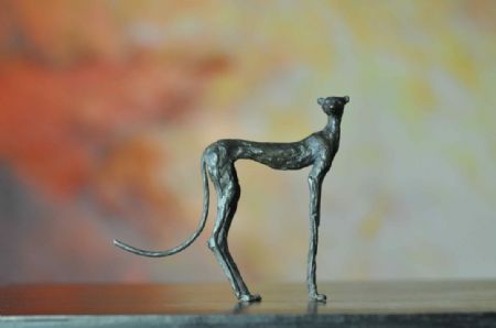 photo leopard-14cm.jpg Sylvie Mangaud - Sculptures