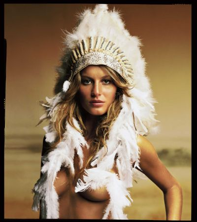 photo mark-seliger---gisele-with-headdress-2000.jpg Mark Seliger - Tirages et Exposition